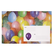 "Jam® 8 1/2"" x 12 1/4"" Open End Decorative Padded Bubble Envelopes, Party Balloons, 6/Pack"