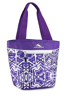 High Sierra Lunch Tote Purple Shibori Geometric Print 74711 4981