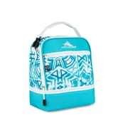High Sierra Stacked Compartment Lunch Bag, Teal Shibori Geometric Print (74714-5136)
