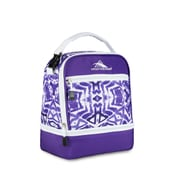 High Sierra Stacked Compartment Lunch Bag, Purple Shibori Geometric Print (74714-4981)