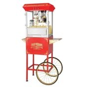Great Northern Popcorn Roosevelt 8 Oz. Antique Popcorn Machine w/ Cart