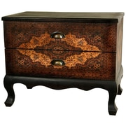 Oriental Furniture Olde-Worlde Euro 2 Drawer Cabinet