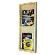 WG Wood Products On the Wall Double Magazine Rack