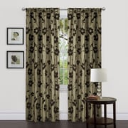 Lush Decor Garden Blossom Curtain Panels Green Brown