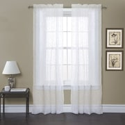 Lush Decor Duke Garden Light-filtering Window Curtain Panels (Set of 2); White