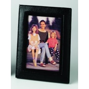 Budd Leather Leather Picture Frame; Black