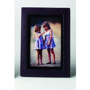 Budd Leather Leather Picture Frame; Navy