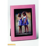 Budd Leather Lizard Print Picture Frame; Pink