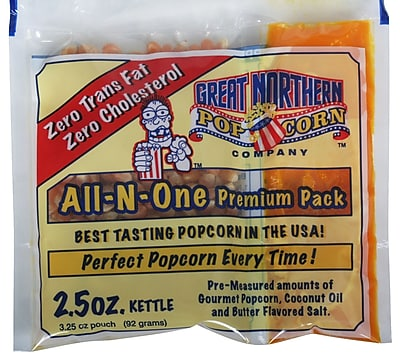 Great Northern Popcorn Popcorn Portion Pack (Set of 24); 2.5 oz. WYF078275672725