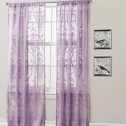 Lush Decor Anya Light-filtering Window Curtain Panel (Set of 2); Purple