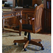Hooker Furniture Brookhaven Leather Bankers Chair in Medium Clear Cherry