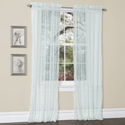 Lush Decor Lola Light-filtering Window Curtain Panels (Set of 2); Aqua / Blue