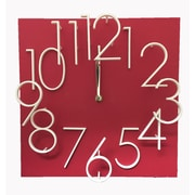 Creative Motion Raised Number Wall Clock