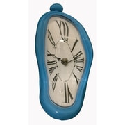 Creative Motion Melting Wall Clock; Baby Blue