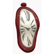 Creative Motion Melting Wall Clock; Red