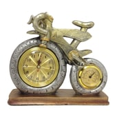 Creative Motion Bicycle Clock with Thermometer