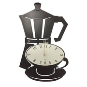 Creative Motion Stovetop Espresso Maker and Coffee Cup Acrylic Wall Clock