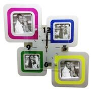 Creative Motion 4 Square Frames Wall Clock