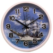 Creative Motion 12'' Clock w/ Ship Design w/ 3D Hologram Clock Face