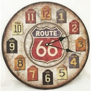 Creative Motion 13.38'' Route 66 Clock