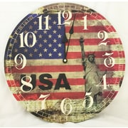 Creative Motion 13.38'' USA Flag Clock