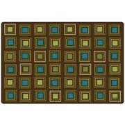 Carpets for Kids Squares Seating Kids Rug; 4' x 6'