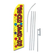 NeoPlex Grand Opening Balloons Swooper Flag and Flagpole Set