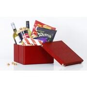 SAMSILL CORPORATION Pop N' Store Medium Square Box (Set of 2); Red