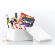 SAMSILL CORPORATION Pop N' Store Medium Square Box (Set of 2); White