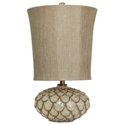 Harp and Finial Bray 28.5'' Table Lamp with Drum Shade