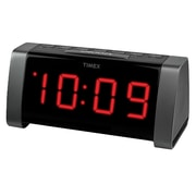 Timex AM/FM Radio Dual Alarm Clock; Black