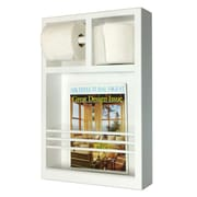 WG Wood Products On The Wall Magazine Rack with Toilet Paper Combo