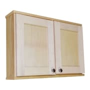 WG Wood Products Shaker Series 29'' W x 19.5'' H Surface Mount Medicine Cabinet; 8''