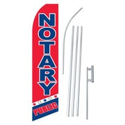 NeoPlex Notary Public Swooper Flag and Flagpole Set