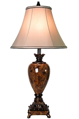 Style Craft 32.25'' H Table Lamp with Bell Shade WYF078279109958