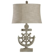 Style Craft Nautical 29'' H Table Lamp with Drum Shade
