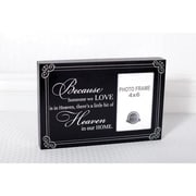 Adams & Co Because Someone Wood Picture Frame; Black / White