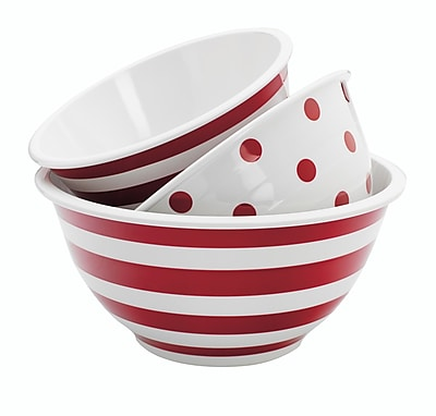 Anchor Hocking 3 Piece Mixing Bowl Set WYF078279107335