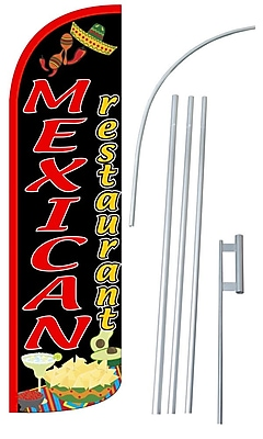 NeoPlex Mexican Restaurant Swooper Flag and Flagpole Set WYF078279108394
