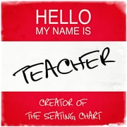 PENL Hello My Name Is Teacher Creator of the Seating Chart Textual Art on Wrapped Canvas