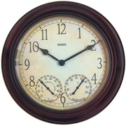 Taylor Springfield Garden Thermometer Wall Clock
