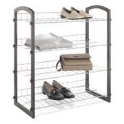Whitmor, Inc 4 Tier Faux Leather Closet Shelves