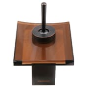 Dyconn Faucet Single Handle Single Hole Waterfall Faucet; Brown Glass
