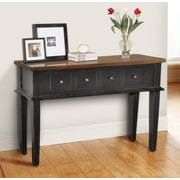 Casual Elements Allendale Console Table; Light Distressed Black/Medium Brown