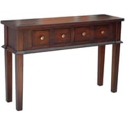 Casual Elements Allendale Console Table; Medium Brown