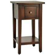 Casual Elements Simple End Table; Medium Brown