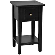 Casual Elements Simple End Table; Light Distressed Black