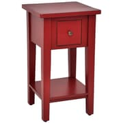 Casual Elements Simple End Table; Light Distressed Bali Red