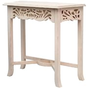 Casual Elements Newport End Table; Light Distressed Linen