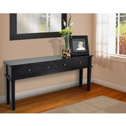 Casual Elements Allendale Console Table; Light Distressed Black